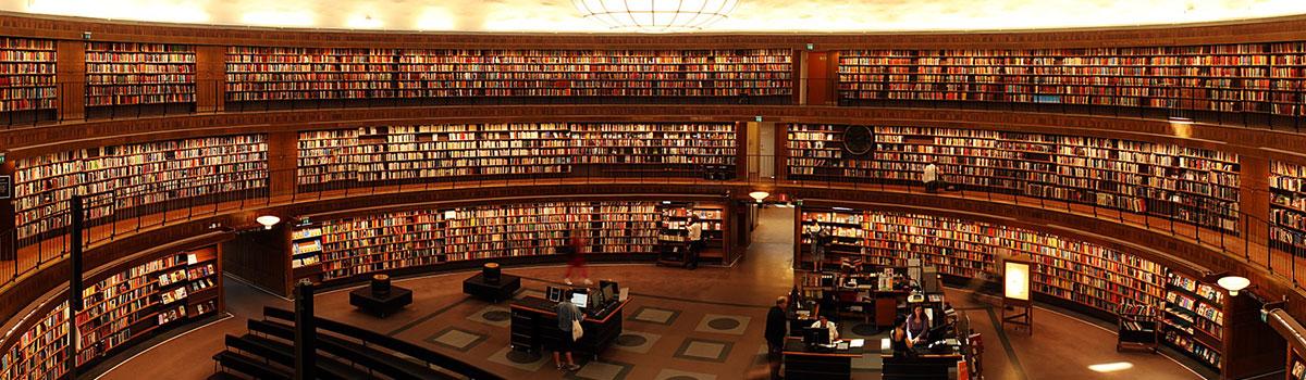 Bibliothek mit Büchern